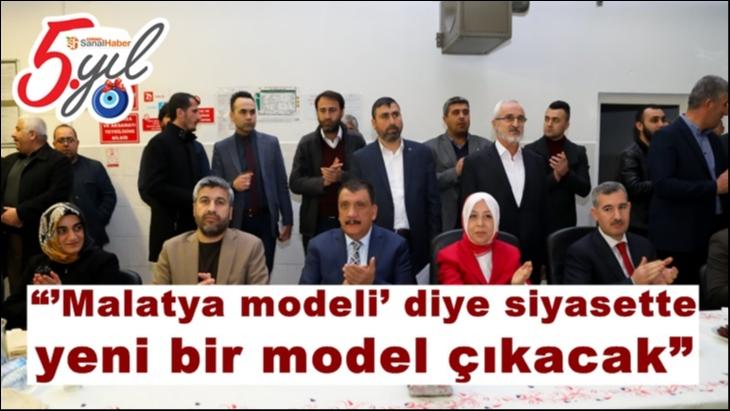 """""""'Malatya modeli' diye siyasette yeni bir model çıkacak"""""""