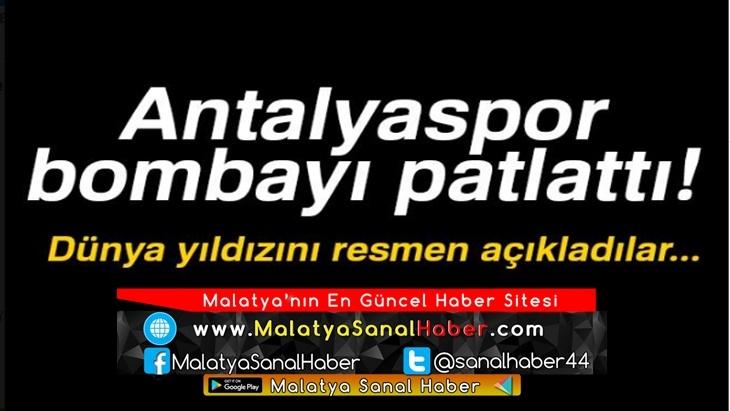 Antalyaspor bombayı patlattı! Dünya yıldızını resmen açıkladılar...