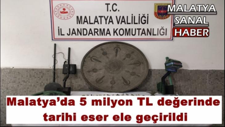 Malatya'da 5 milyon TL değerinde tarihi eser ele geçirildi
