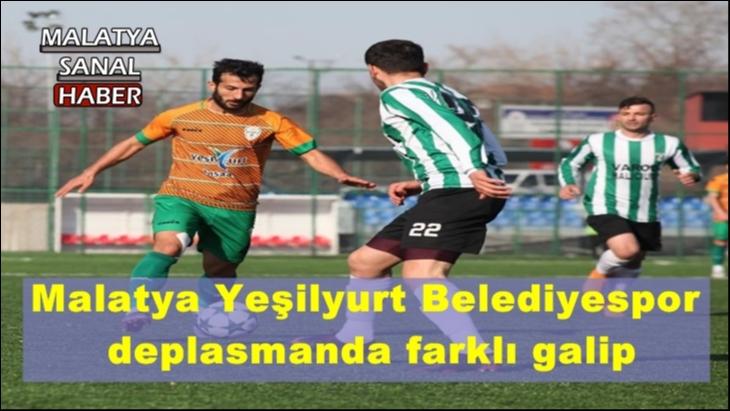 Malatya Yeşilyurt Belediyespor deplasmanda farklı galip