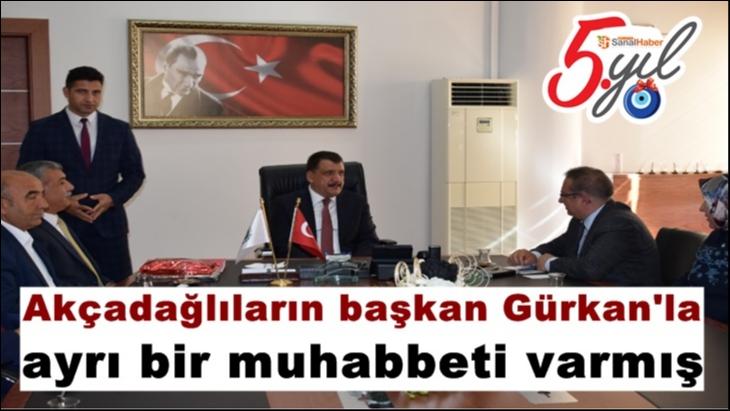 Akçadağlıların Başkan Gürkan'la ayrı bir muhabbeti varmış
