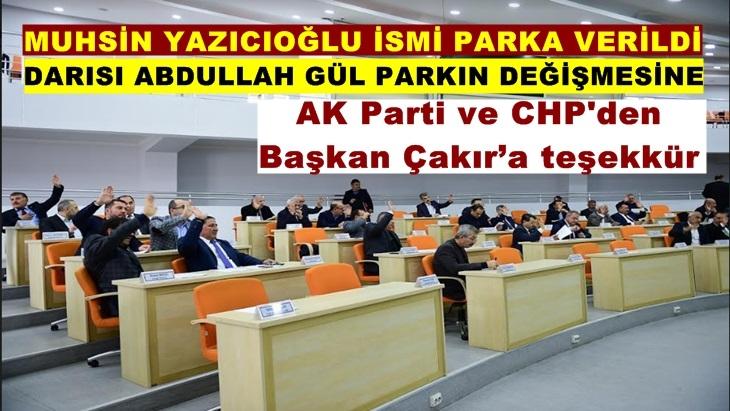 Malatya'da Muhsin Yazıcıoğlu ismi Parka verildi