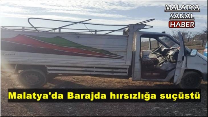 Malatya'da Barajda hırsızlığa suçüstü
