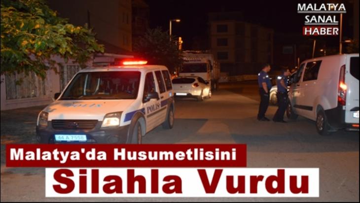 Malatya'da Husumetlisini Silahla Vurdu