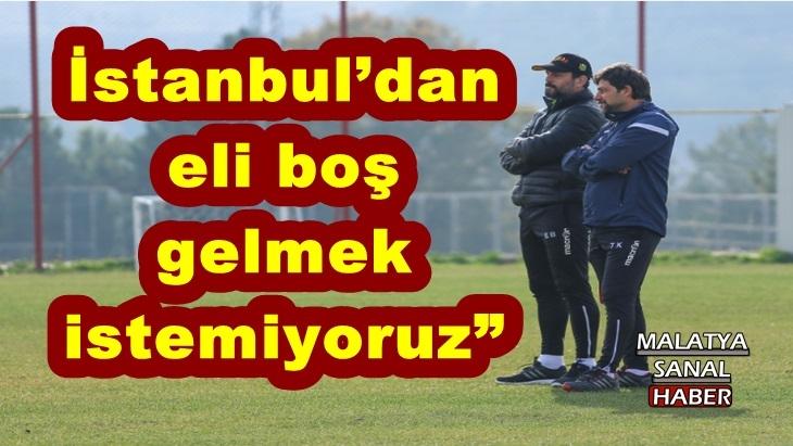 E.Y. Malatyaspor, Kasımpaşa deplasmanında puan hedefliyor