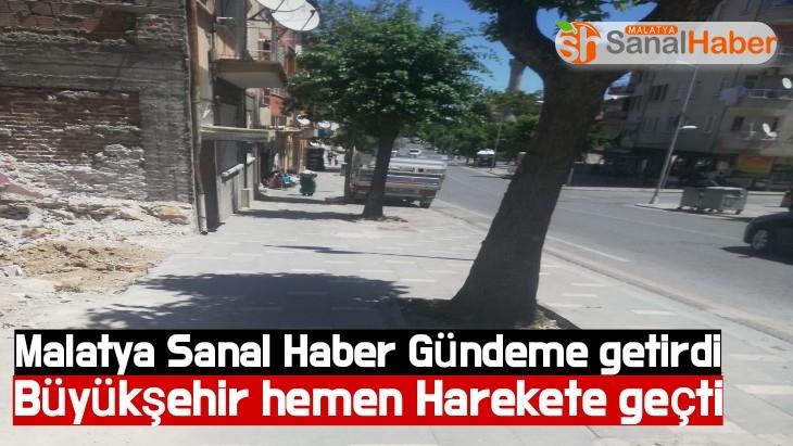 Malatya Sanal Haber Gündeme getirdi Büyükşehir hemen Harekete geçti