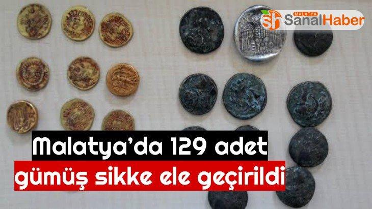 Malatya'da 129 adet gümüş sikke ele geçirildi