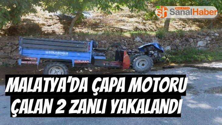 Malatya'da Çapa motoru çalan 2 zanlı yakalandı