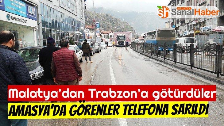 Malatya'dan Trabzon'a götürdüler Amasya'da Görenler telefona sarıldı