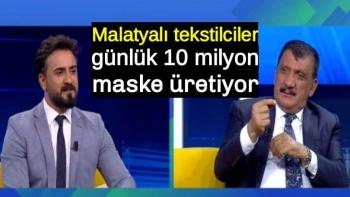 Malatyalı tekstilciler günlük 10 milyon maske üretiyor
