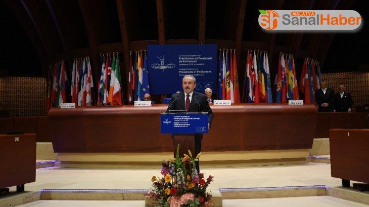 Meclis Başkanı Şentop, Avrupa Parlamento Başkanları toplantısında konuştu