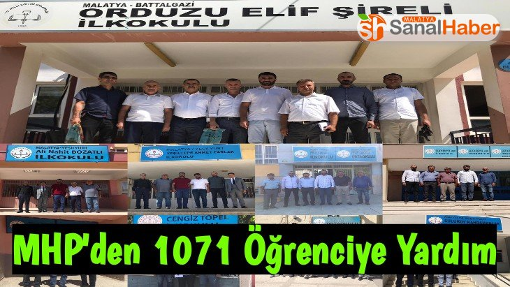 MHP'den 1071 Öğrenciye Yardım