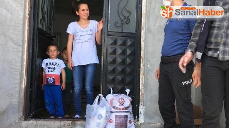 Malatya'da polisten anlamlı hareket