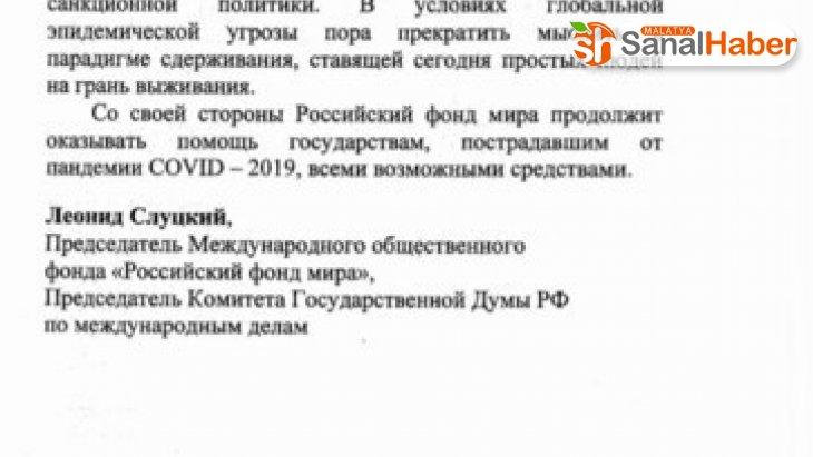 Rusya'dan İtalya'ya mektup: 'Ambargoları kaldırın'