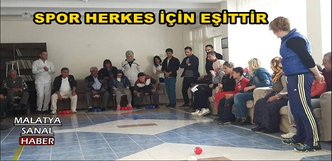 Malatya'da Boccıa Oyunu Huzurevinde Gerçekleşti