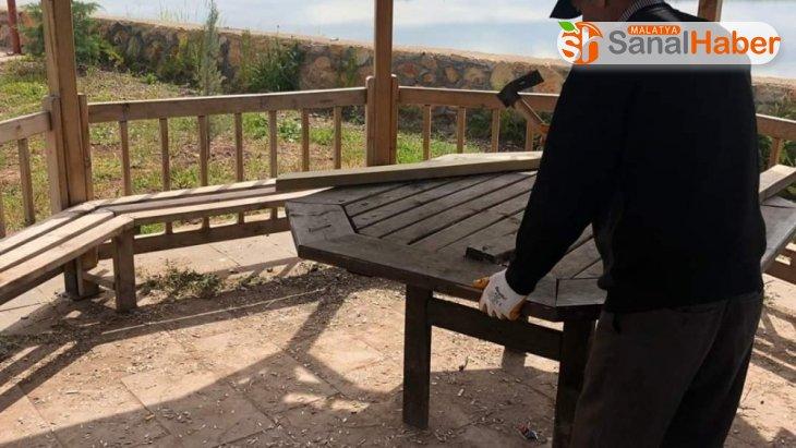 Tabiat parkında yenileme çalışmaları devam ediyor