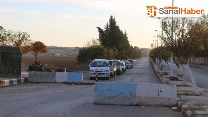 Tel Abyad'da güvenlik önlemleri kapsamında kontrol noktaları koydu