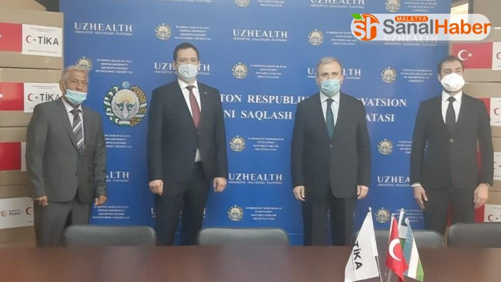 TİKA'dan Özbekistan'a Covid-19'la mücadele için ikinci kez tıbbi malzeme desteği