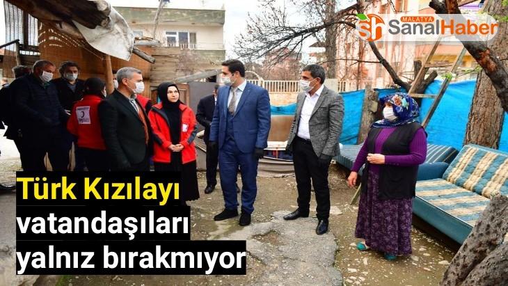 Türk Kızılayı vatandaşıları yalnız bırakmıyor