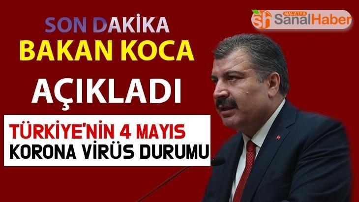 Türkiye'de 4 Mayıs Koronavirüs Tablosu