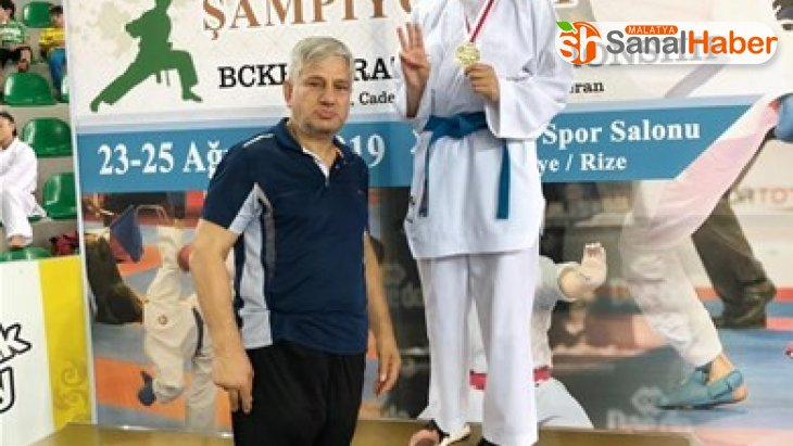 Uygur, Karadeniz ve Hazar Ülkeleri Uluslararası Karate Şampiyonasında birinci oldu