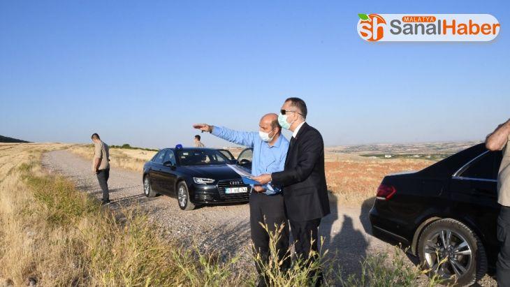 Vali Mahmut Çuhadar, mermer ihtisas OSB arazisini inceledi