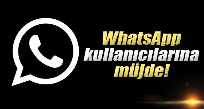 WhatsApp kullanıcılara müjde