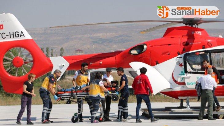 Yaralı tatilci ambulans helikopterle kurtarıldı