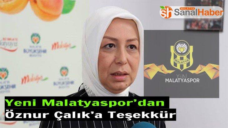 Yeni Malatyaspor'dan  Öznur Çalık'a Teşekkür