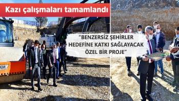 Yeşilyurt´ta millet bahçesi inşaat alanında kazı çalışmaları tamamlandı