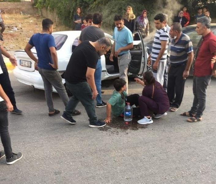 Adıyaman´da, iki otomobil çarpıştı: 1 yaralı