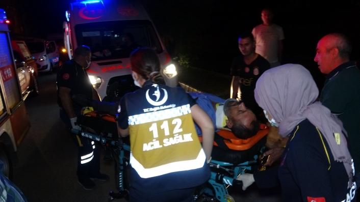 Adıyaman´da işçileri taşıyan otobüs kontrolden çıktı, ortalık savaş alanına döndü: 2 yaralı