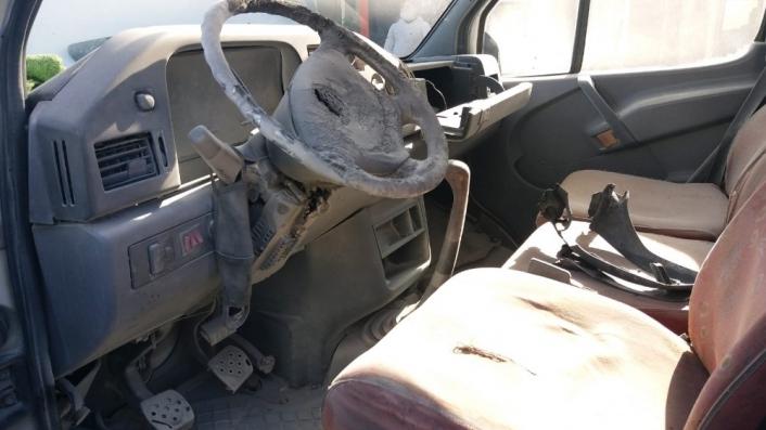 Adıyaman´da minibüs yangını