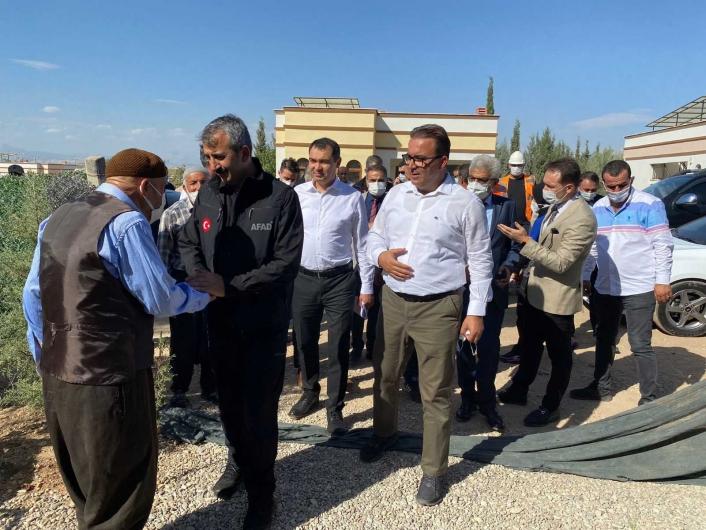 AFAD Başkanı Sezer Adıyaman´da ki afet konutlarını inceledi