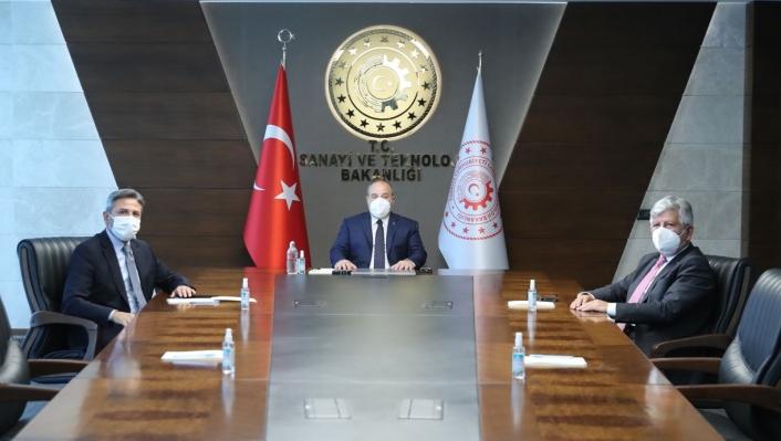 Ahmet Aydın, Sanayi ve Teknoloji Bakanı Varank´la görüştü