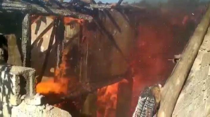 Ahşap evde çıkan yangı söndürüldü