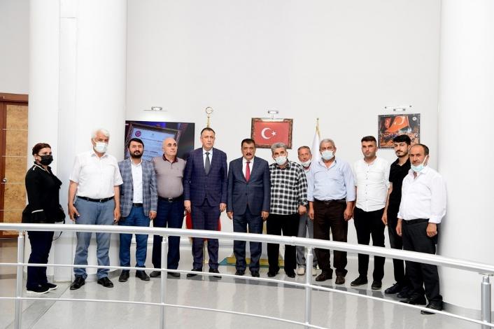 AK Parti yerel yönetimlerden Başkan Gürkan´a ziyaret