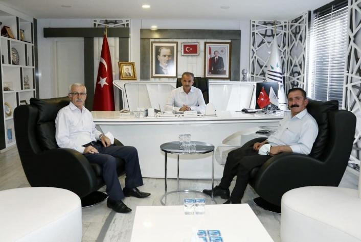 Alevi Kültür Derneği Başkanı Tanrıverdi´den Başkan Kılınç´a ziyaret