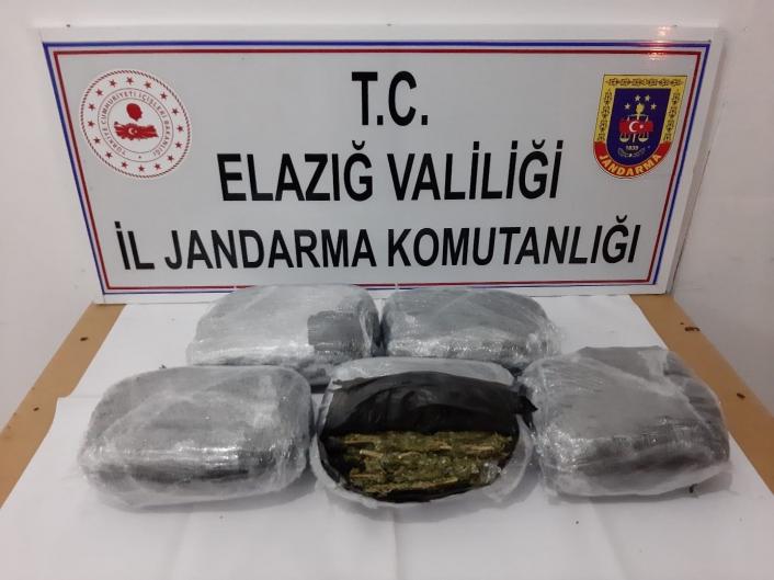 Ankara´ya gönderilen uyuşturucu Elazığ´da yakalandı