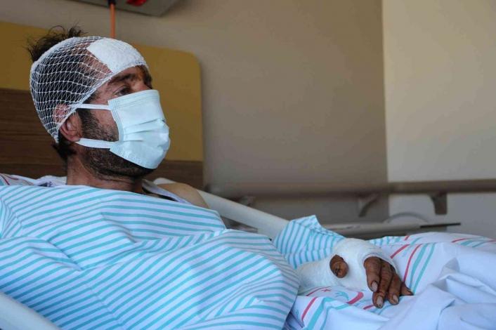 Ayı saldırısı sonucu hastanelik olan şahıs, dehşet anlarını anlattı: