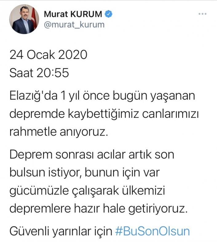 Bakanı Kurum: