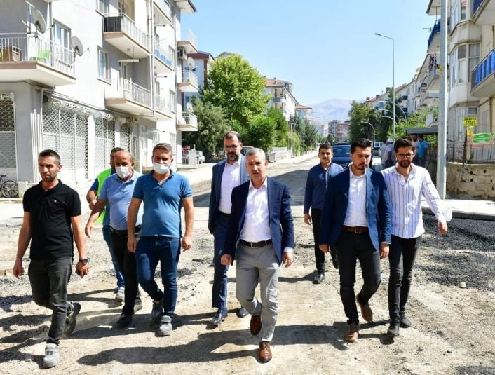 Başkan Çınar değişim ve dönüşüm yatırımlarını inceledi
