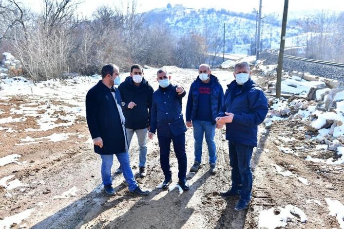 Başkan Çınar,  dere ıslah ve dönüşüm çalışmalarını inceledi