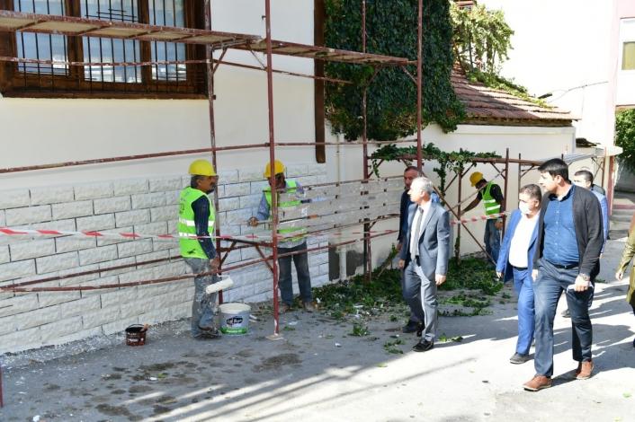 Başkan Çınar, sokak sağlıklaştırma çalışmalarını inceledi