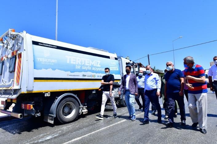 Başkan Çınar, temizlik çalışmalarını inceledi