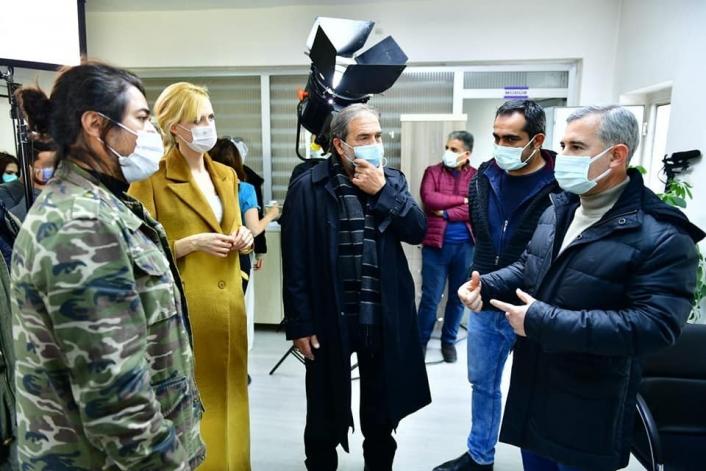 Başkan Çınar, Yeşilyurt´ta çekilen `Gırift´ dizi setini ziyaret etti