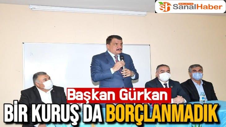 Başkan Gürkan bir kuruşta borçlanmadık