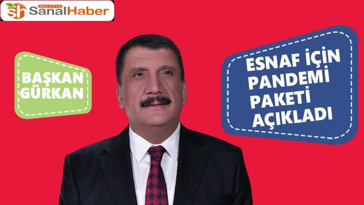 Başkan Gürkan esnaf için pandemi paketi açıkladı