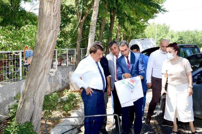 Başkan Gürkan, Horata mesire alanında incelemelerde bulundu
