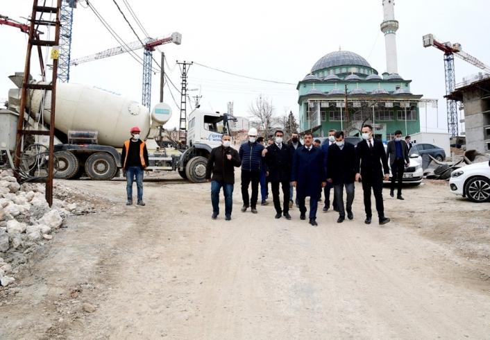 Başkan Gürkan kentsel dönüşüm çalışmalarını yerinde inceledi